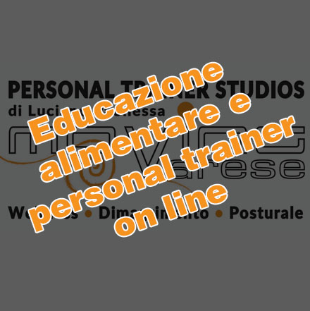 Personal Trainer ed educazione alimentare ON LINE